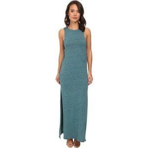 Chaser Cut Out Fitted Maxi Dress Blue Green S NWT